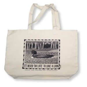 """LOVE A LOON"" TOTE BAG"