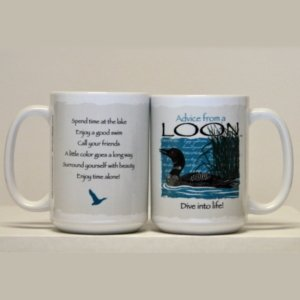 Advice from a Loon mug