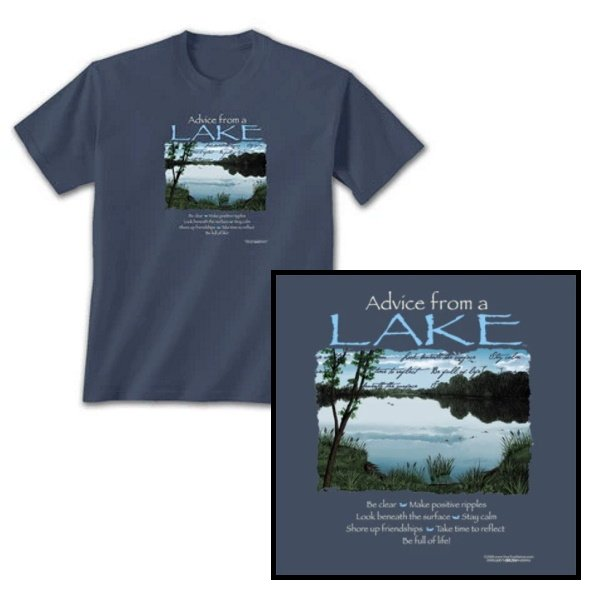 Advice from a Lake t-shirt