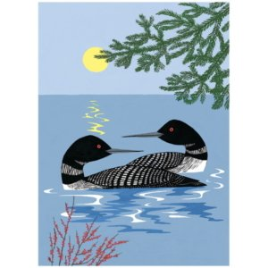 Evening Loons by Misko