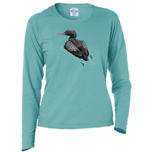 Swimming Loon Long Sleeve t-shirt - Ladies'