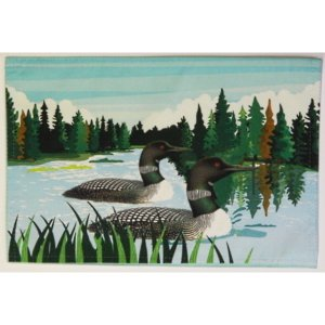 Indoor/Outdoor Loon Placemat