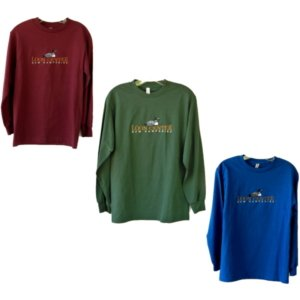 Loon Center Long-sleeve Embroidered Tees
