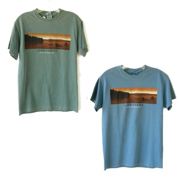 Loon Center Lake Panorama Tee