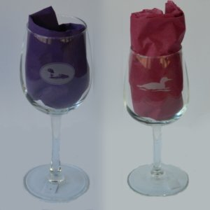Loon etched wine glasses