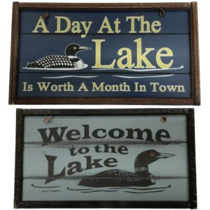 "Decorative 5""x10"" Wooden Signs"