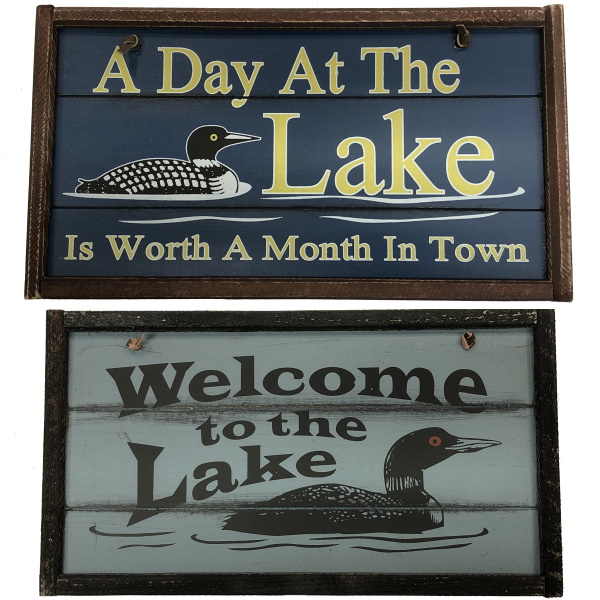 """Decorative 5""""x10"""" Wooden Signs"""
