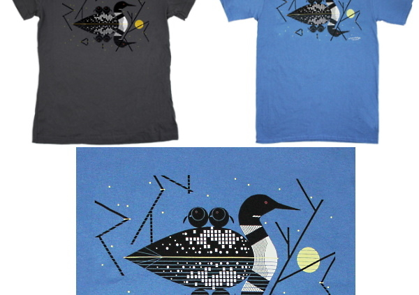 Charley Harper Claire de Loon tees