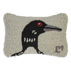 Hooked Loon Pillow